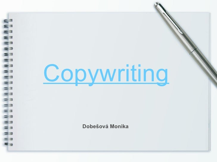 Copywriting   Dobešová Monika