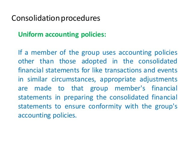 consolidated financial statements intragroup transactions Obligatory presentation of consolidated financial statements the article  in the  group and intragroup transactions and balances are eliminated at the same.