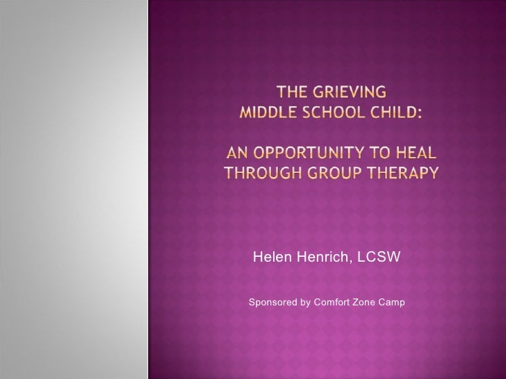 Helen Henrich, LCSW Sponsored by Comfort Zone Camp