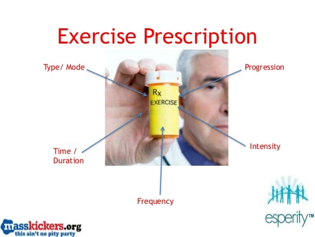 Exercise Prescription Type/ Mode Time / Duration Frequency Intensity Progression