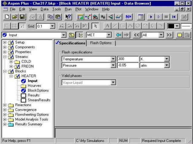 Computer Simulation Of A Heat Exchanger Using Aspen