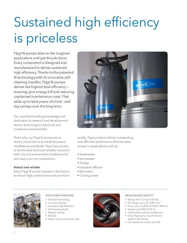 60 Hz Flygt N-Pump Series Brochure