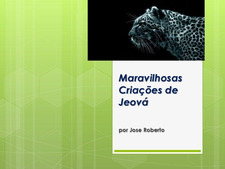 MaravilhosasCriações deJeovápor Jose Roberto