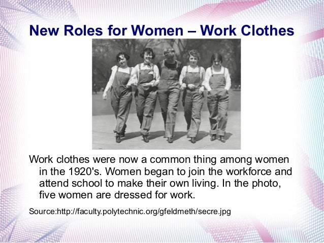 """role of new women in 1920s essay The role of women in the 1920's essay  life and job availability began to create what is now referred to as the """"new women""""  role of women in 1920s."""