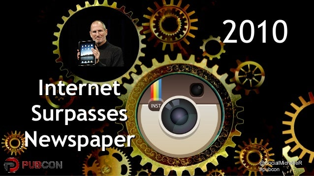 @SocialMichelleR@SocialMichelleR #pubcon#pubcon 20102010 InternetInternet SurpassesSurpasses NewspaperNewspaper