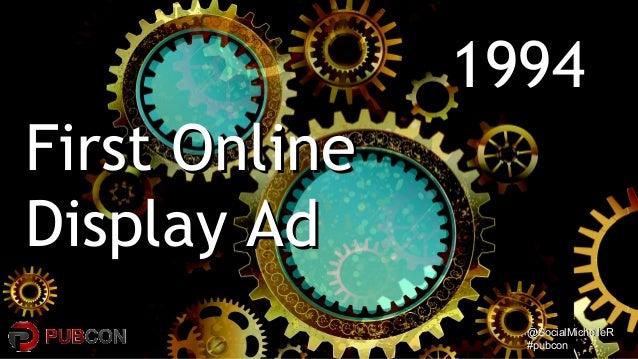 @SocialMichelleR@SocialMichelleR #pubcon#pubcon 19941994 First OnlineFirst Online Display AdDisplay Ad