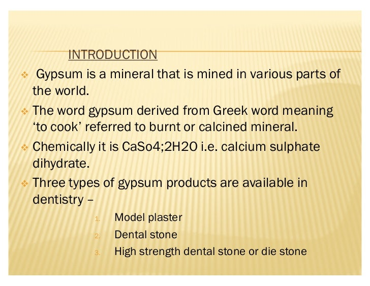 Types Of Gypsum ~ Gypsum