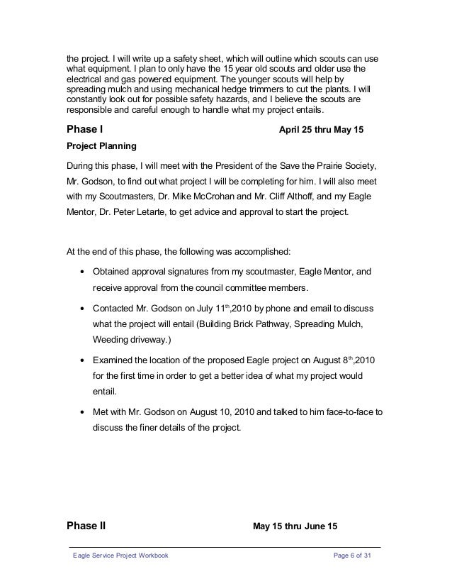 eagle scout project write up Piedmont council eagle projects eagle scout is the highest rank available within scouting it requires staying active in the program for several years, earning 21 merit badges in various areas, providing leadership within one's troop, and completing an eagle project.