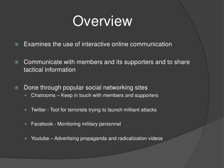 terror on twittter facebook and youtube All are struggling with the problem of anonymous accounts or accounts with fake owners — reuters picwashington, jan 18 — terrorists and hate groups continue to.