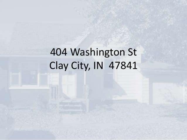 404 Washington St Clay City, IN 47841
