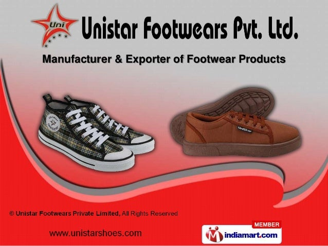 Manufacturer & Exporter of Footwear Products