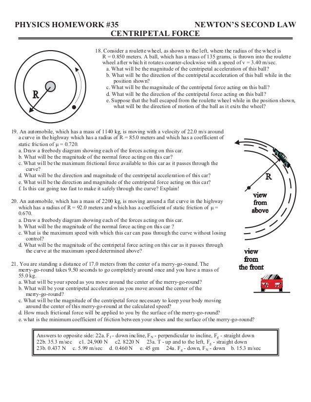 centripetal force worksheet geersc. Black Bedroom Furniture Sets. Home Design Ideas