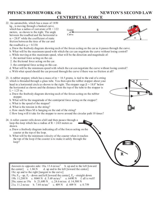 physics homework #31 second law