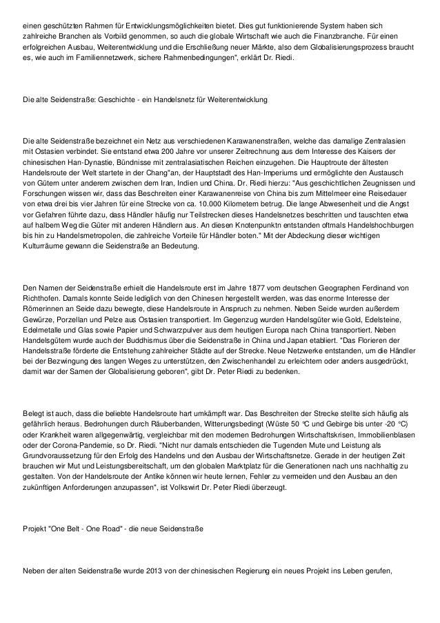 Seidenstraße als Globalisierung und Netzwerk Vorreiter Slide 2