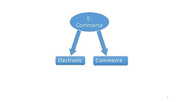 1 E- Commerce Electronic Commerce