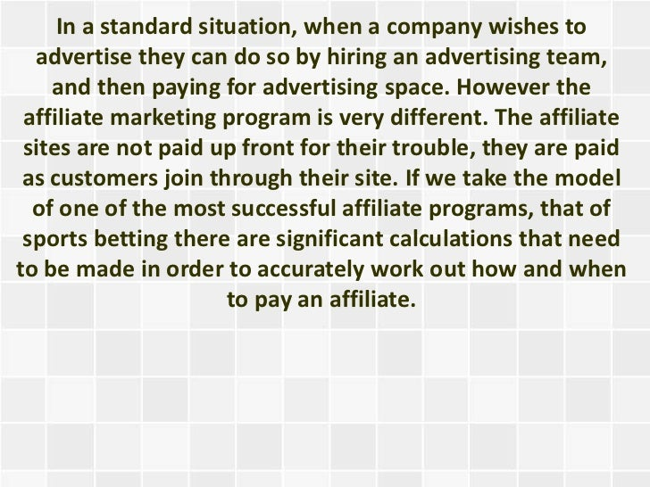 Why Sports Betting Affiliate Programs Work - 웹