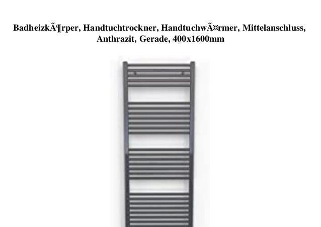 Badheizk/örper Handtuchheizk/örper Handtuchw/ärmer wei/ß gebogen 1500x500mm Mittelanschluss