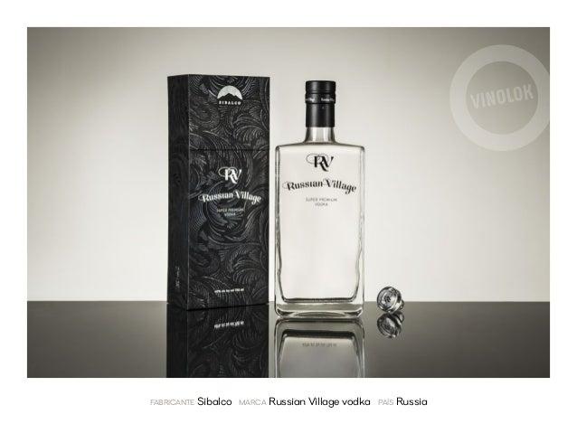 fabricante Sibalco marca Russian Village vodka país Russia