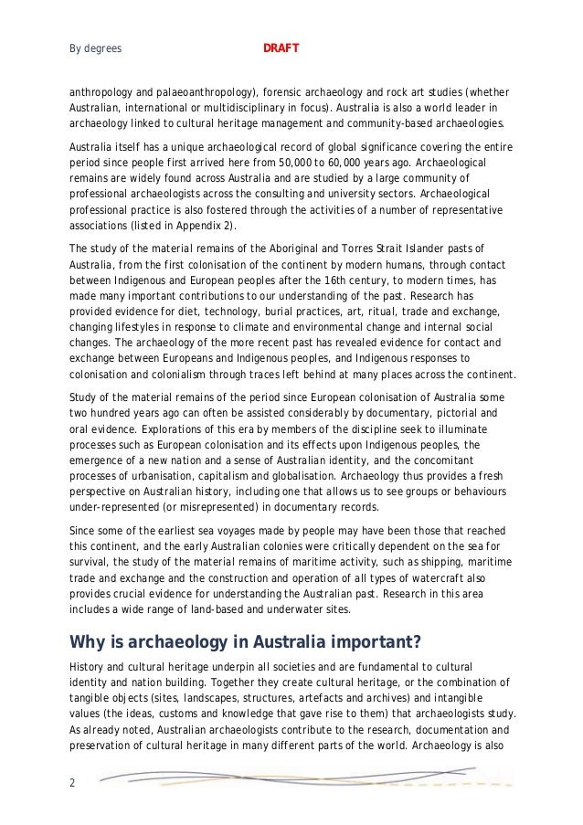 Benchmarking Archaeology Degrees Report