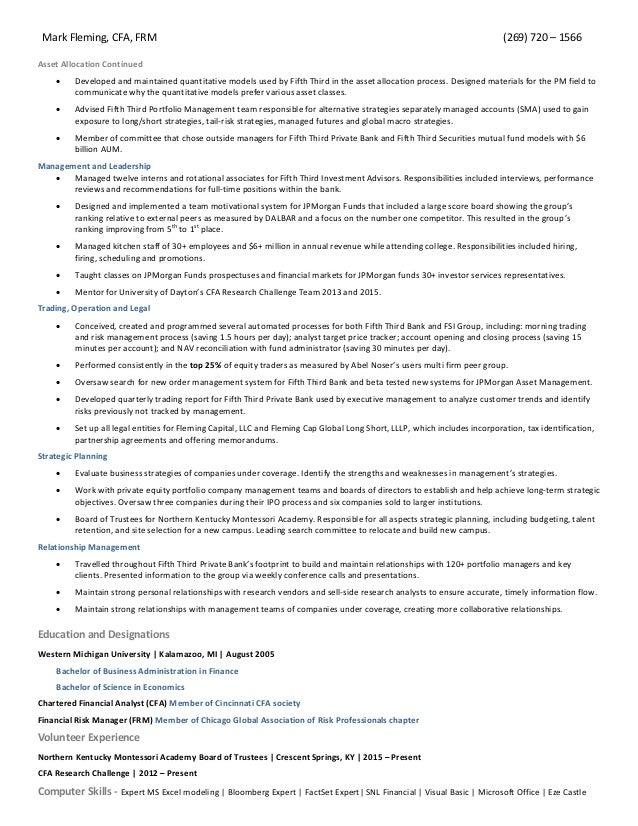 mark fleming resume