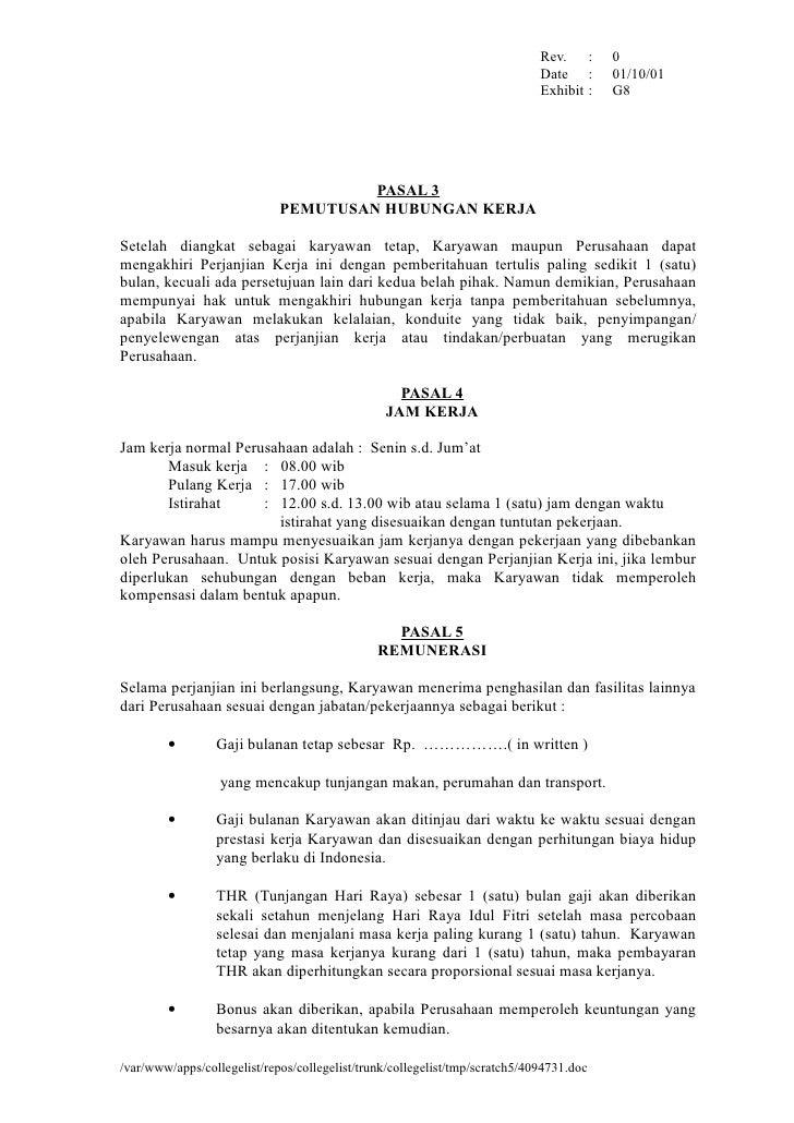 4071010 Surat Perjanjian Kerja