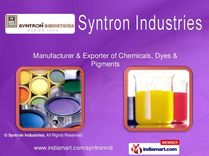 Manufacturer & Exporter of Chemicals, Dyes & Pigments<br />