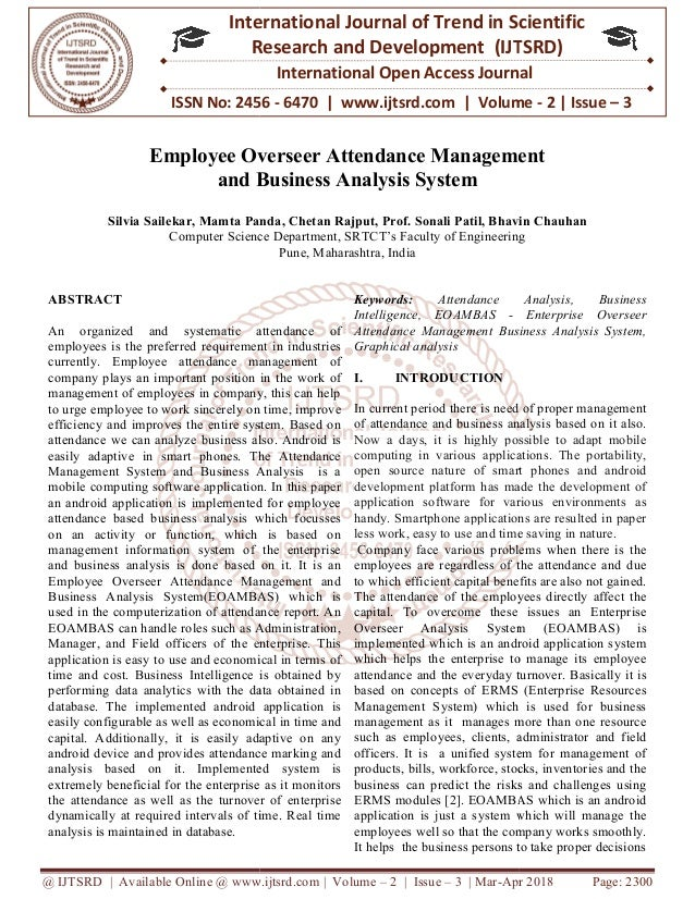 Employee Overseer Attendance Management and Business