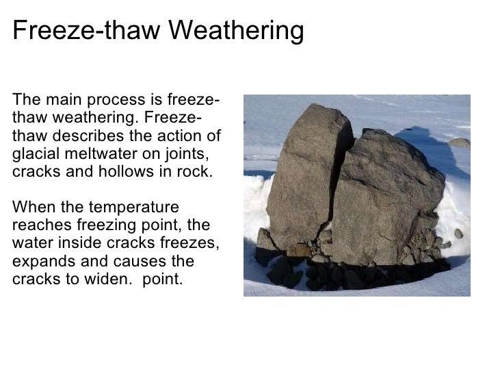 Glaciation freeze thaw weathering ccuart Choice Image