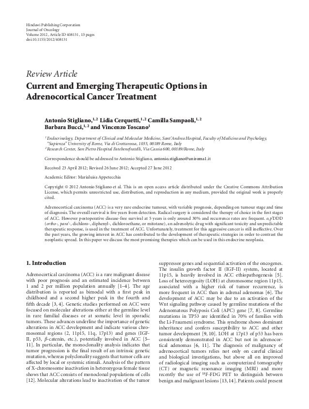 Hindawi Publishing Corporation Journal of Oncology Volume 2012, Article ID 408131, 13 pages doi:10.1155/2012/408131 Review...