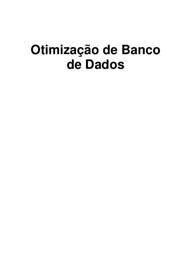 Otimização de Banco de Dados