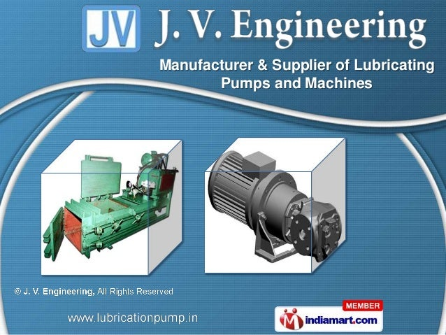 Manufacturer & Supplier of Lubricating       Pumps and Machines