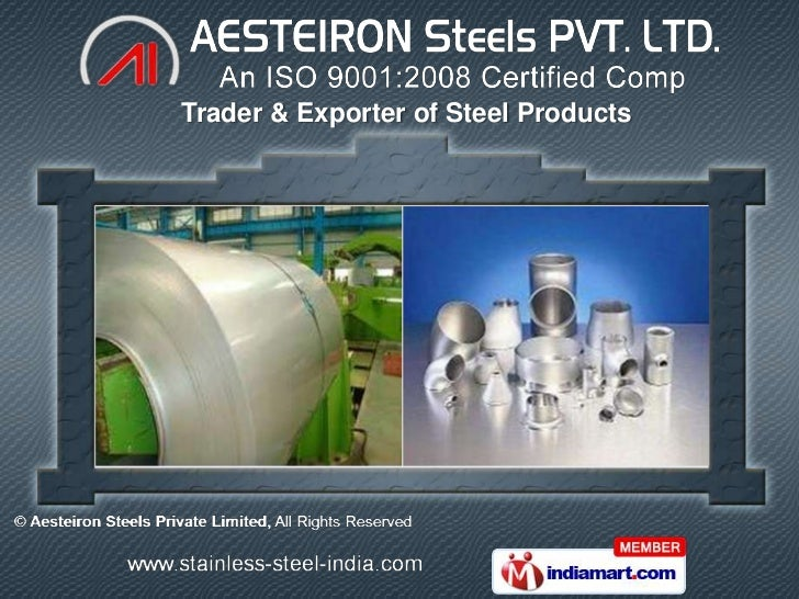 Trader & Exporter of Steel Products