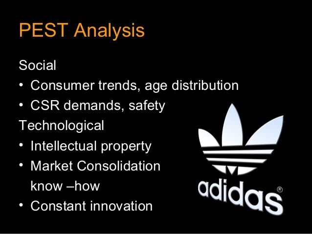 PEST AnalysisSocial• Consumer trends, age distribution• CSR demands, safetyTechnological• Intellectual property• Market Co...