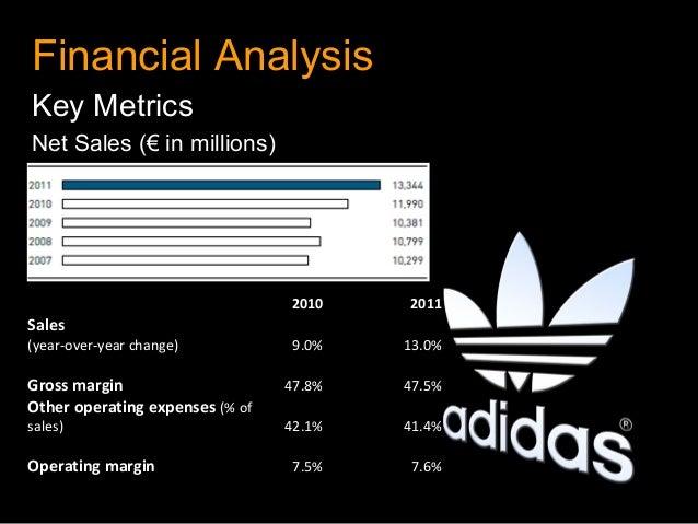 Financial AnalysisKey MetricsNet Sales (€ in millions)                                   2010       2011Sales       ...