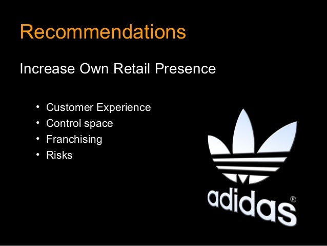 RecommendationsIncrease Own Retail Presence  •   Customer Experience  •   Control space  •   Franchising  •   Risks