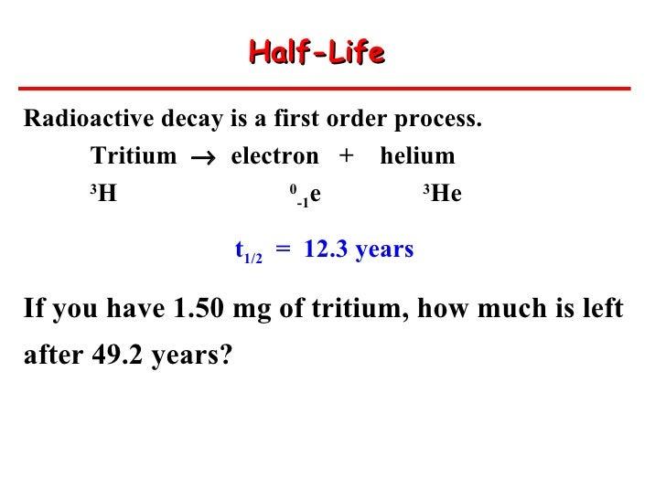 half life and radioactive decay