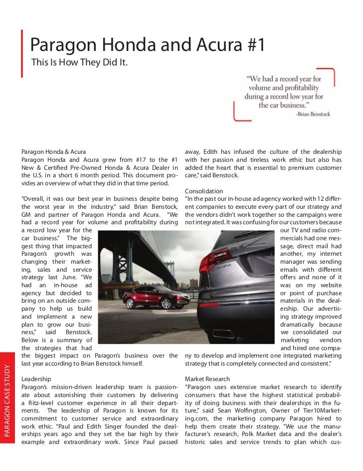 the honda effect case study This case study shows how american honda training for service quality improvement honda case study tqm course individual project by: the effect of expo 2020.