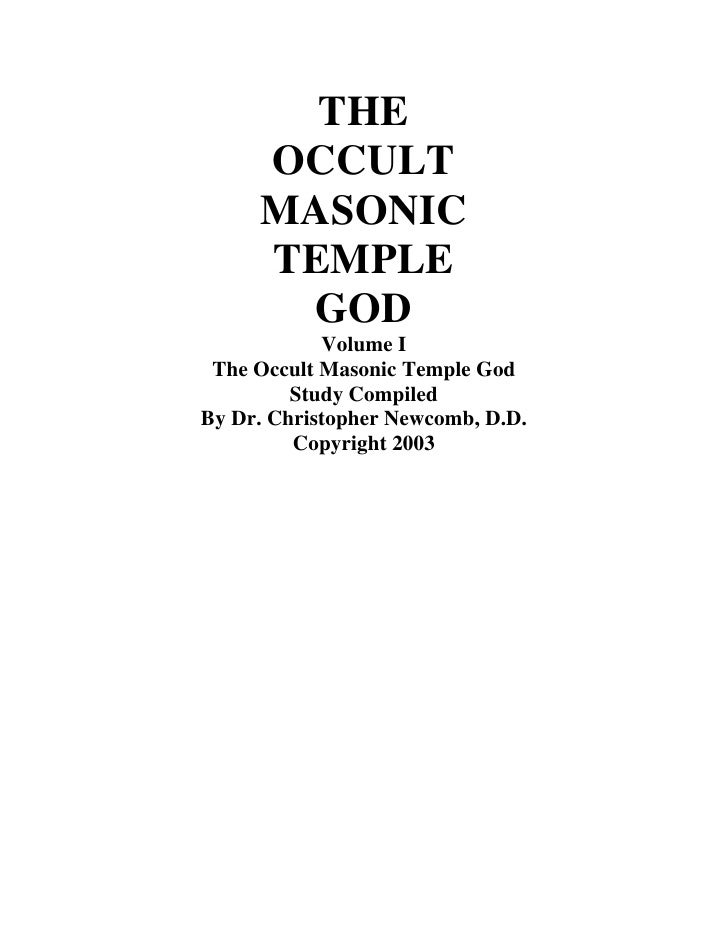 The Occult Masonic Temple God