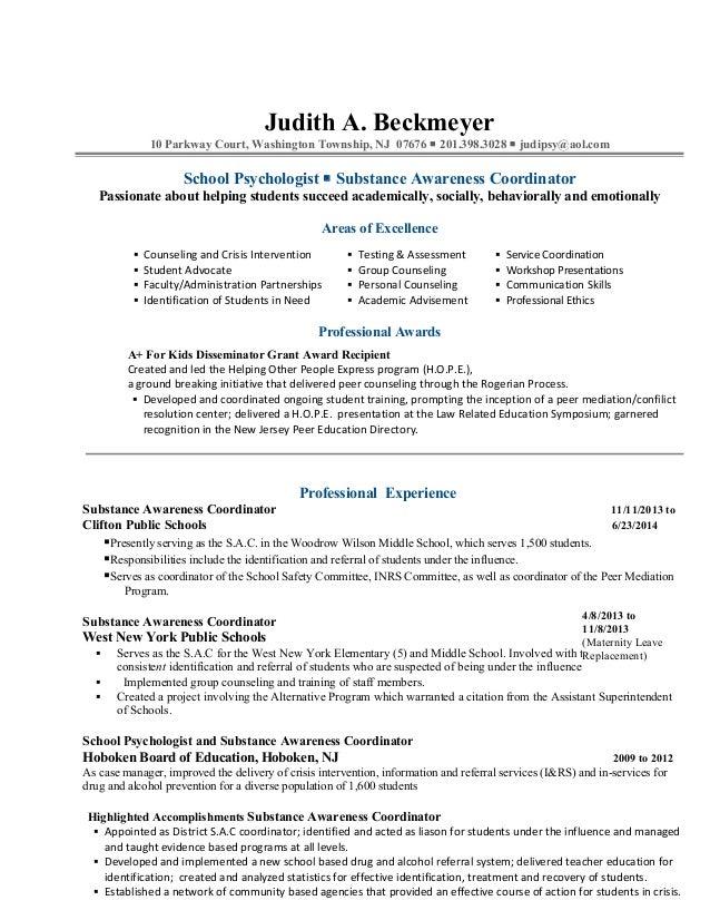 resume help bergen county nj