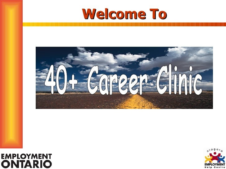 Welcome To 40+ Career Clinic