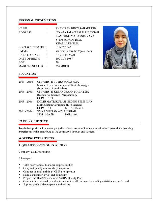 Resume Shahirah Saharudin