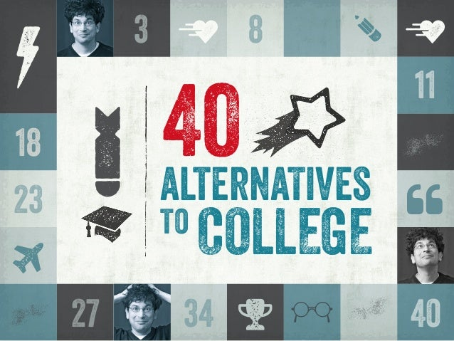 COLLEGE alternaTives 40 to y 8 g 18 o p   vv C27 11 23  m o amm m 34 3 40 o