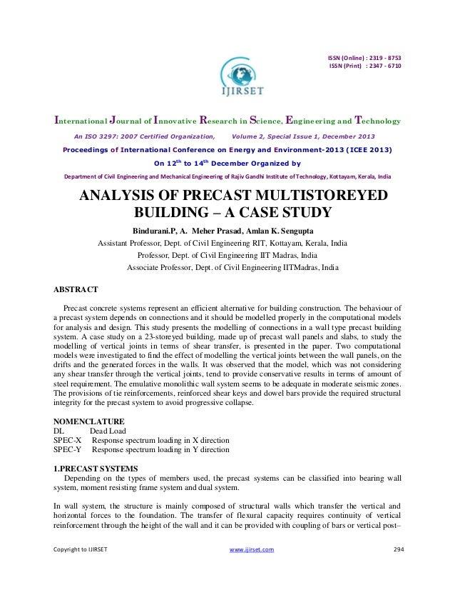 Copyright to IJIRSET www.ijirset.com 294 ISSN (Online) : 2319 - 8753 ISSN (Print) : 2347 - 6710 International Journal of I...