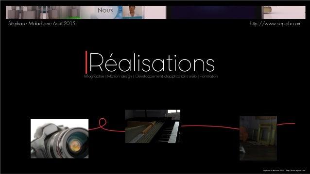 Infographie | Motion design | Développement d'applications web | Formation Stéphane Malachane 2015 http://www.sepiafx.com ...