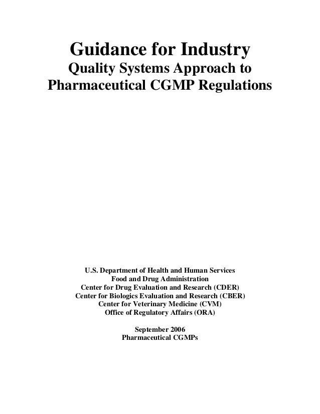 cgmp in pharmaceutical industry pdf