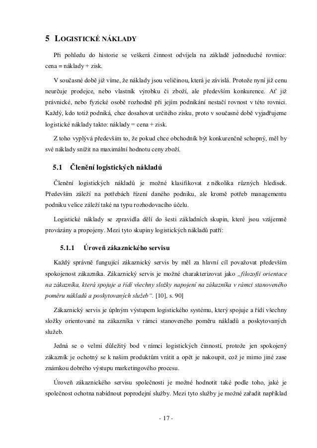 Analýza logistického procesu dopravy ve vybraném podniku 3901ae76ab