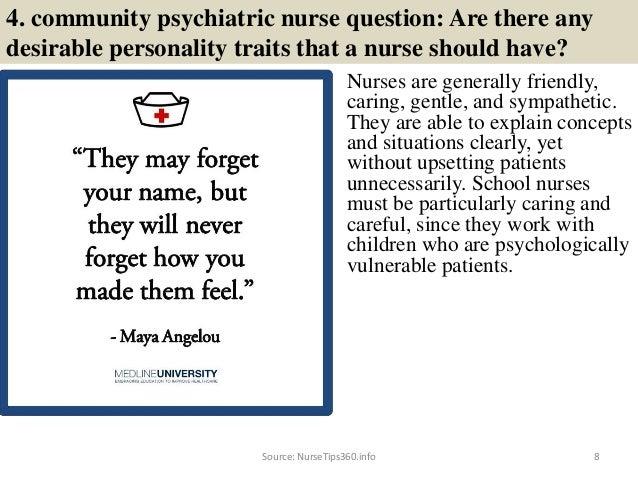 8. 4. Community Psychiatric Nurse Question: ...