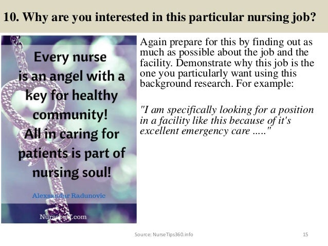 15 10 - Nursing Interview Questions And Answers