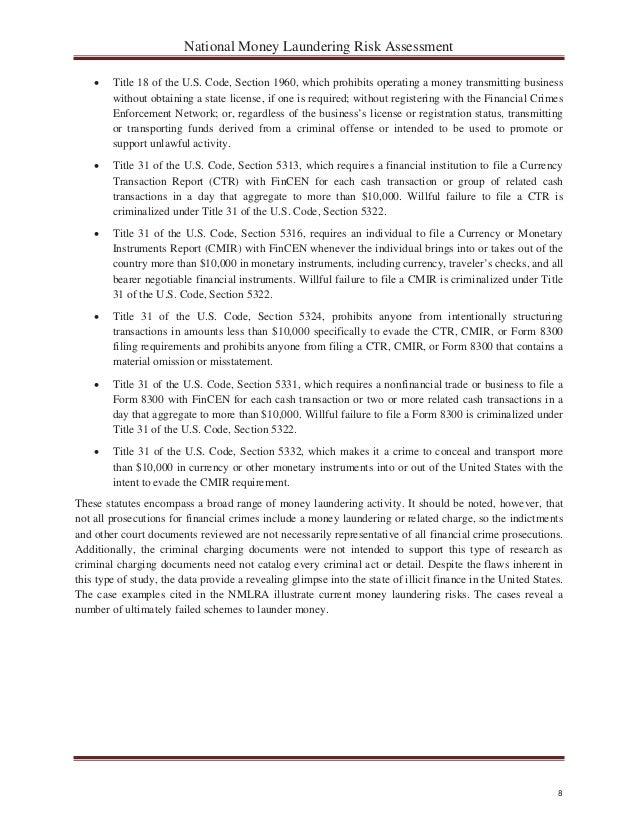 National Money Laundering Risk Assessment – 06-12-2015