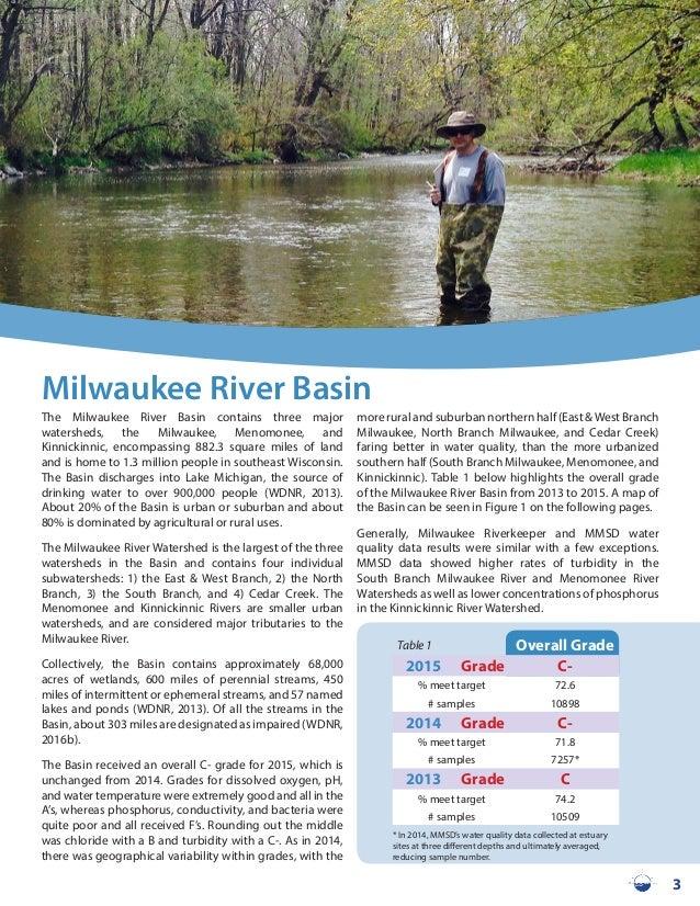 2015 milwaukeeriverkeeper reportcard for Milwaukee river fishing report
